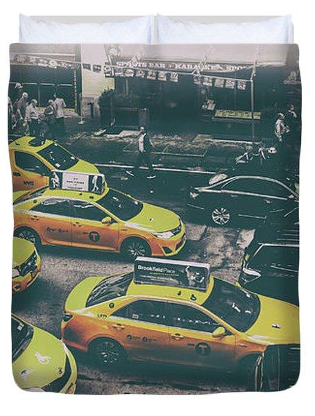 Cab City Duvet Cover