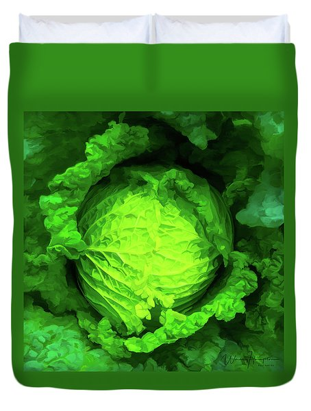 Cabbage 02 Duvet Cover by Wally Hampton