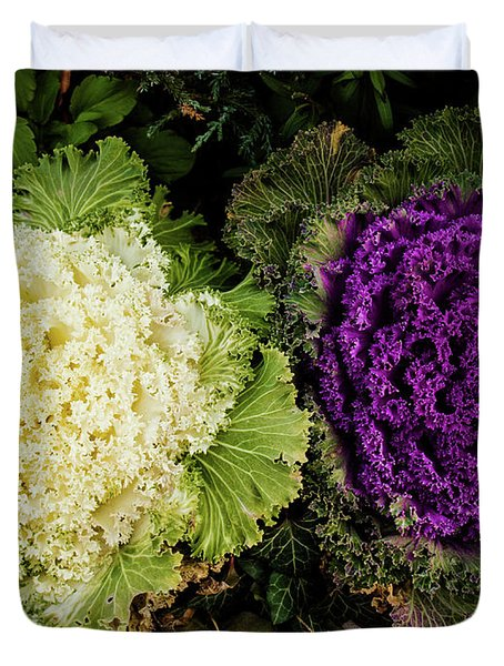 Cabbage Flowers Duvet Cover