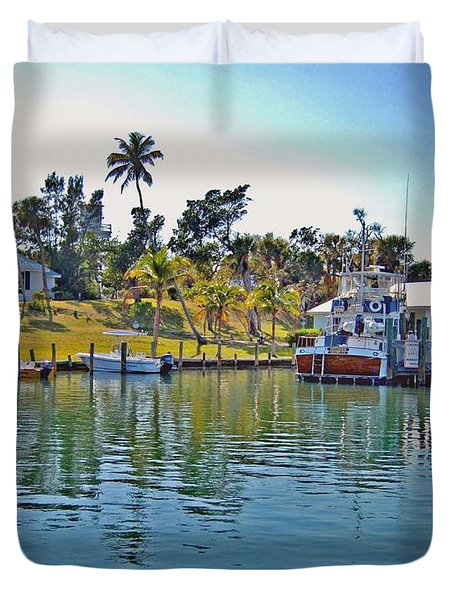 Cabbage Key Duvet Cover by Michael Thomas