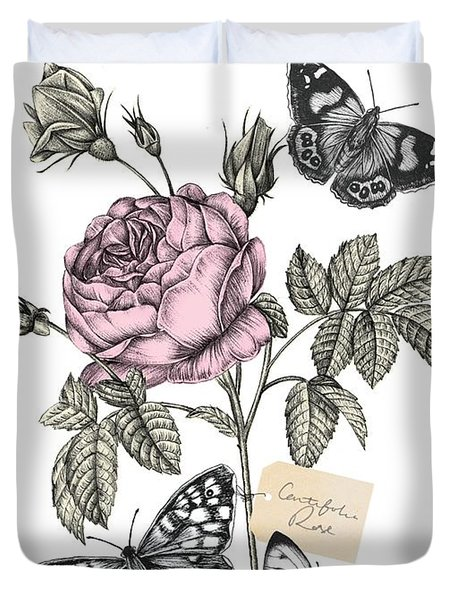 Cabbage Rose Duvet Cover by Stephanie Davies