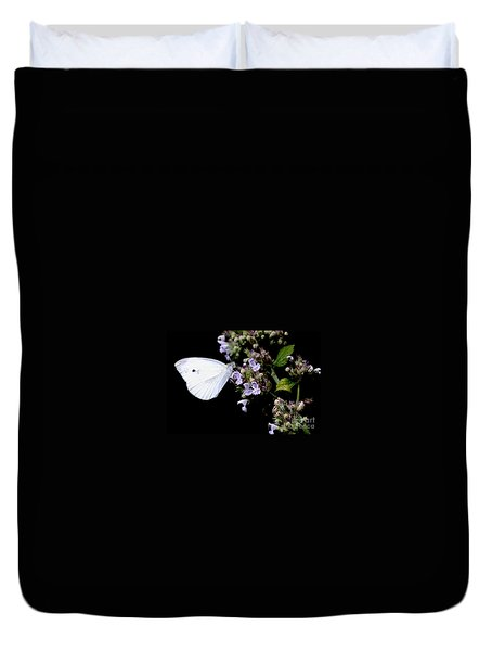 Cabbage White On Catnip Duvet Cover