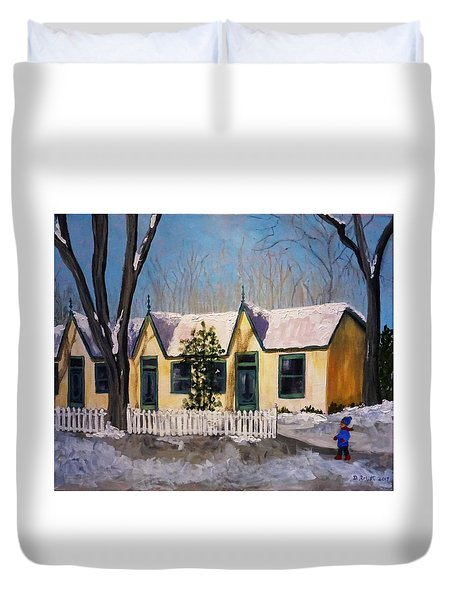 Cabbagetown Christmas Duvet Cover