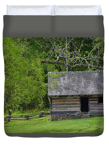 Cabin At Zebulon Vance Birthplace Duvet Cover