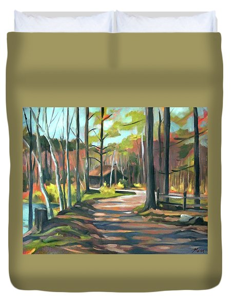 Cabin By The Lake En Plein Air Duvet Cover