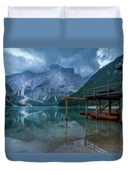 Cabin By The Lake Duvet Cover