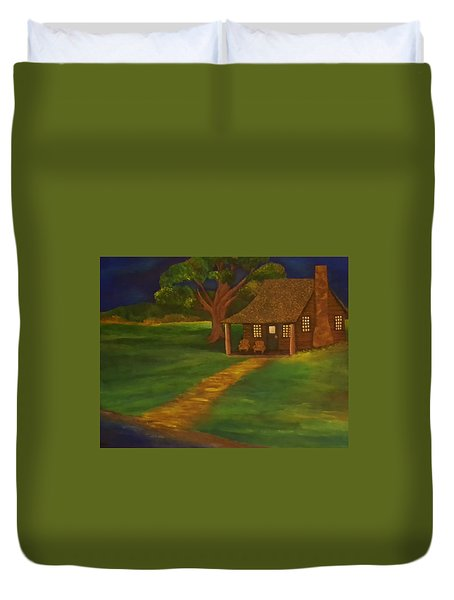 Cabin By The Water Duvet Cover by Christy Saunders Church