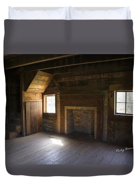 Cabin Home Duvet Cover by Ricky Dean