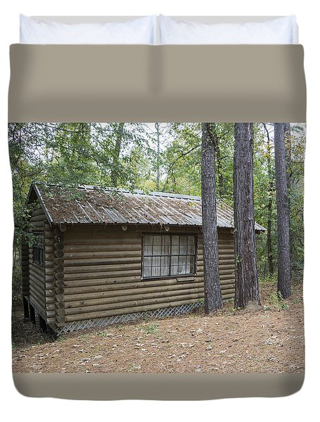 Cabin In The Woods Duvet Cover by Ricky Dean