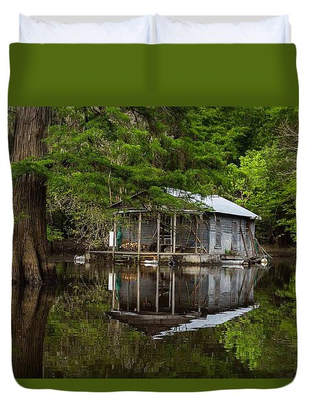 Cabin On The Lake Duvet Cover