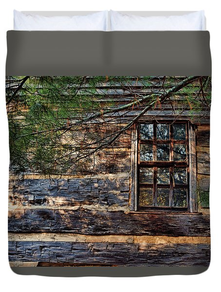 Cabin Window Duvet Cover by Joanne Coyle