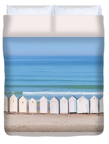 Cabins Duvet Cover by Delphimages Photo Creations