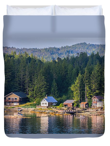 Cabins On The Water Duvet Cover