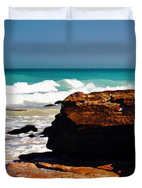 Cable Beach Broome Duvet Cover by Phill Petrovic