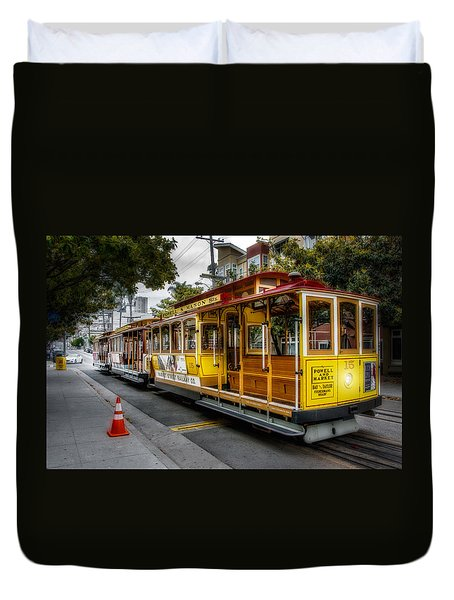 Cable Car  Duvet Cover by Patrick Boening