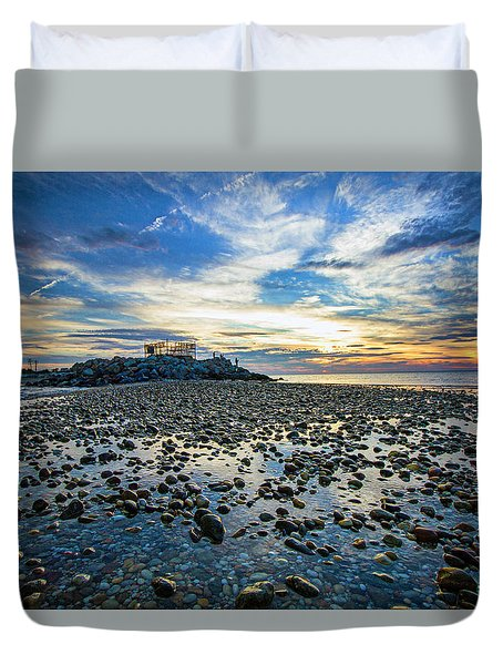 Cable Crossing Orient Point Sunset Duvet Cover