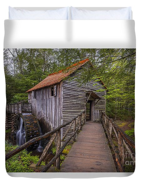 Cable Grist Mill Duvet Cover