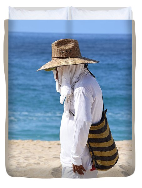 Cabo Beach Hawker. Duvet Cover