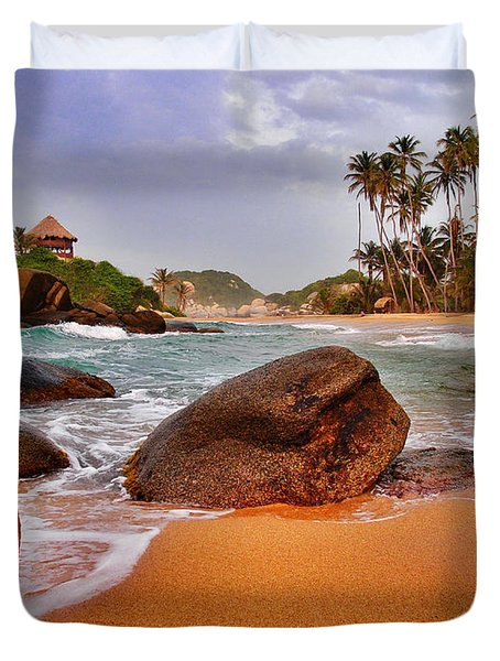 Duvet Cover featuring the photograph Cabo San Juan by Skip Hunt