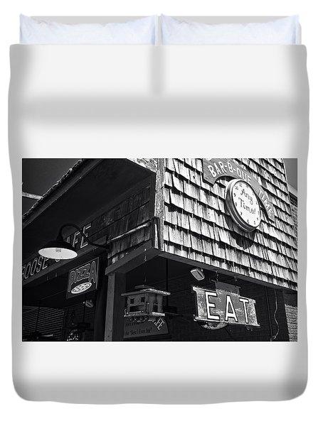 Bar B Que Caboose Cafe Duvet Cover