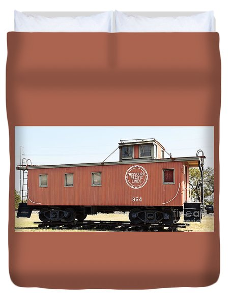 Duvet Cover featuring the photograph Caboose by Ray Shrewsberry