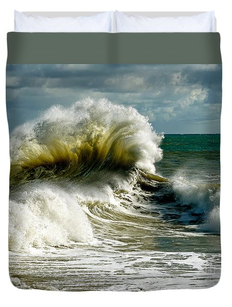 Cabrillo Shorebreak  Duvet Cover