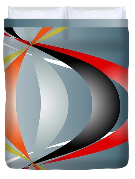 Duvet Cover featuring the digital art Cacophony 2 by Leo Symon