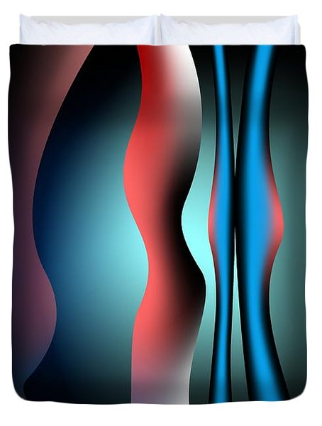 Duvet Cover featuring the digital art Cacophony by Leo Symon