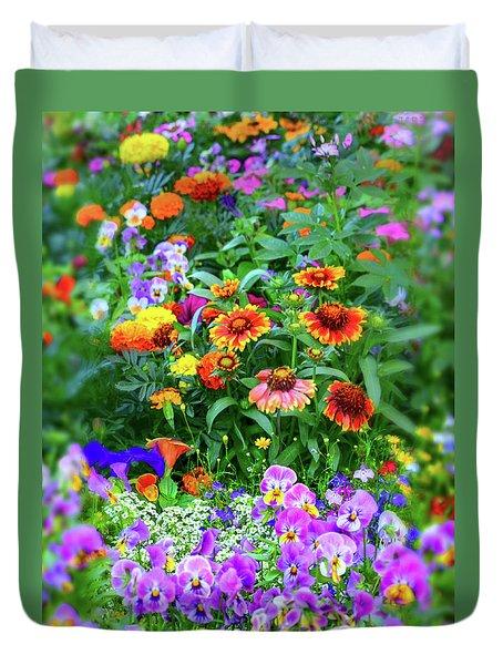 Summer Symphony Of Color Duvet Cover