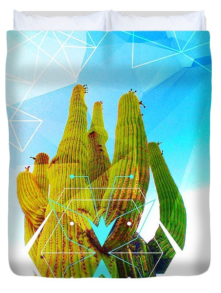 Cacti Embrace Duvet Cover