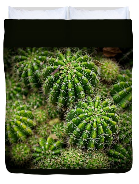 Duvet Cover featuring the photograph Cacti by Keith Hawley