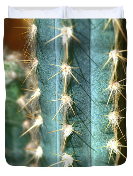 Duvet Cover featuring the photograph Cactus 3 by Jim and Emily Bush