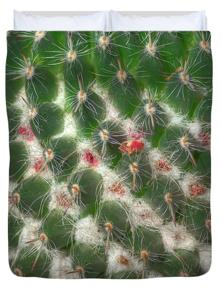 Duvet Cover featuring the photograph Cactus 5 by Jim and Emily Bush