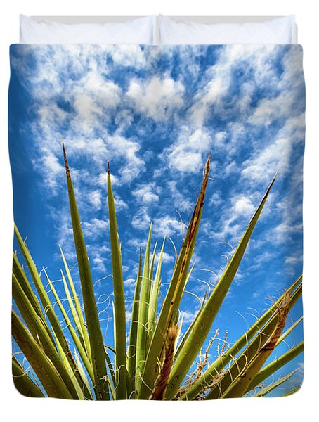 Cactus And Blue Sky Duvet Cover by Amyn Nasser