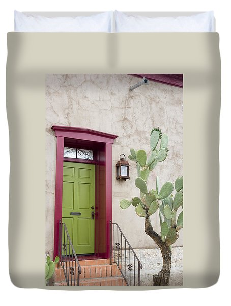 Cactus And Doorway Duvet Cover