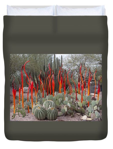 Cactus And Glass Duvet Cover
