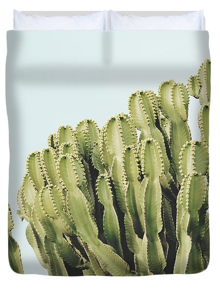 Cactus And Sky Vintage II Duvet Cover