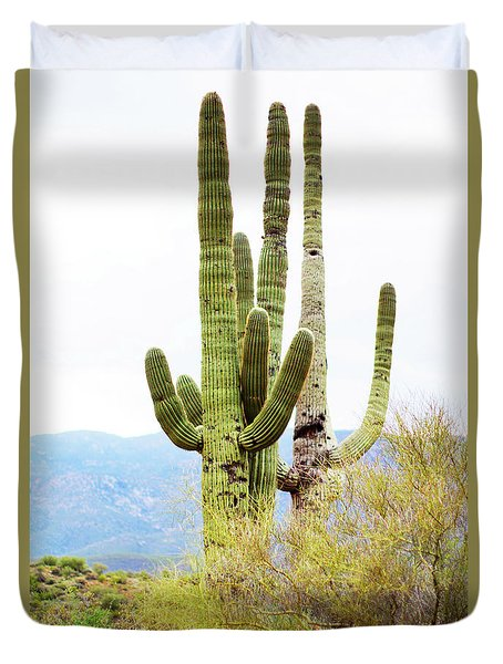 Cactus Duvet Cover by Angi Parks