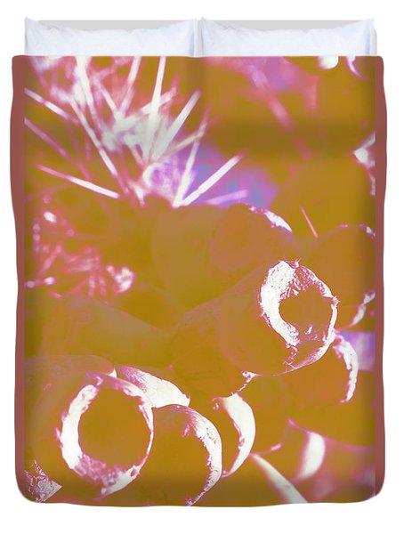 Duvet Cover featuring the photograph Cactus Apples In Modern Art by Carolina Liechtenstein