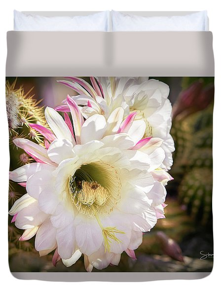 Cactus Bloom 2 Duvet Cover