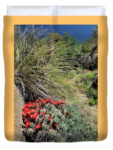 Crimson Barrel Cactus Duvet Cover