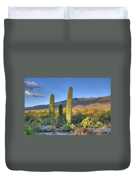 Cactus Desert Landscape Duvet Cover