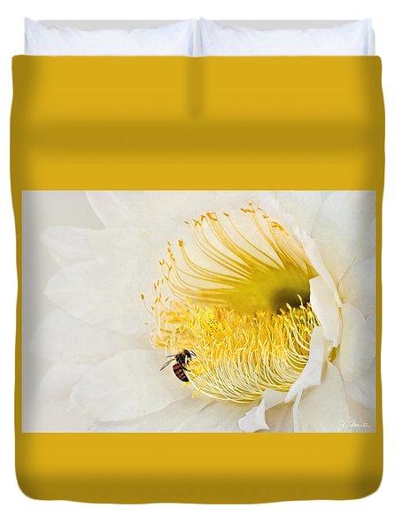 Duvet Cover featuring the photograph Cactus Flower Diner No. 2 by Joe Bonita