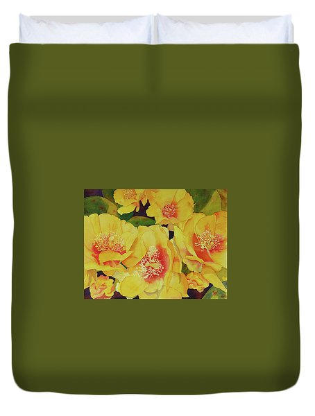 Cactus Flowers Duvet Cover