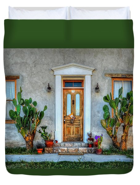 Duvet Cover featuring the photograph Cactus Guards by Ken Smith