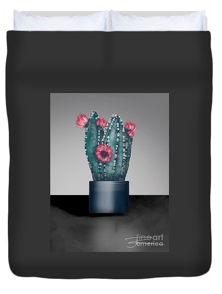 Cactus In Bloom I  Duvet Cover