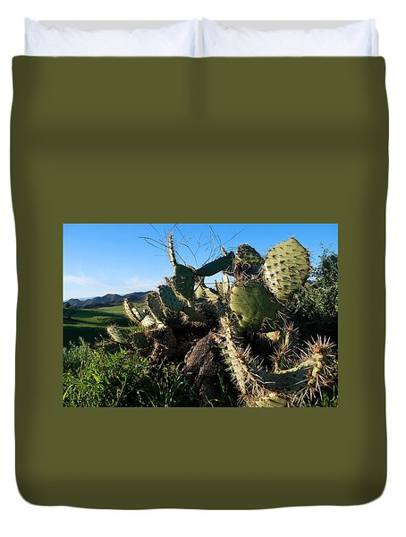 Cactus In The Mountains Duvet Cover