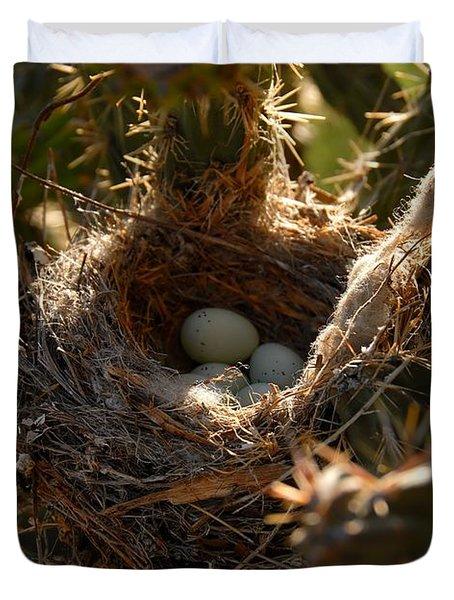 Cactus Nest Duvet Cover by David Lee Thompson