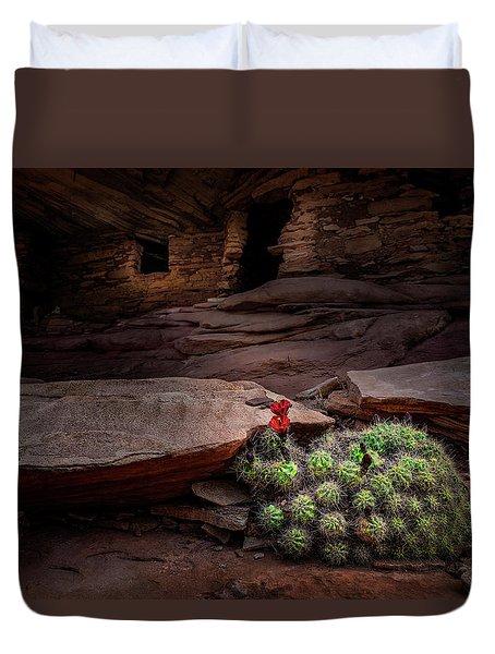 Cactus On Fire Duvet Cover
