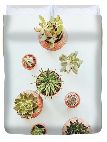 Cactus Pots Duvet Cover
